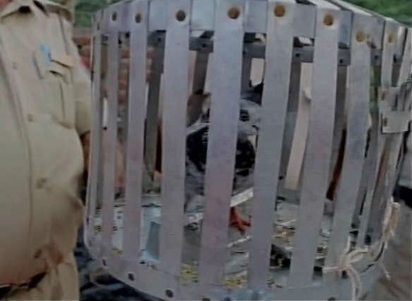 Indian police take a pigeon into custody...