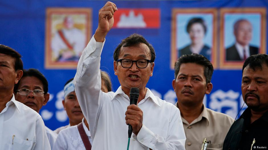 Cambodian opposition figure re-emerges for election