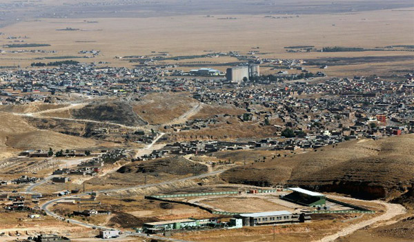 US soldiers deployed on Iraqi Sinjar Mountain
