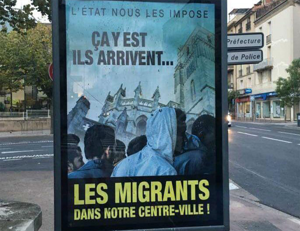 A French mayor's sick anti-refugee posters