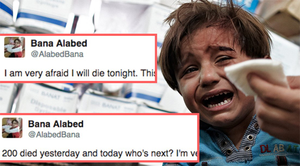 7 year old girl tweets from war-torn Syrian city