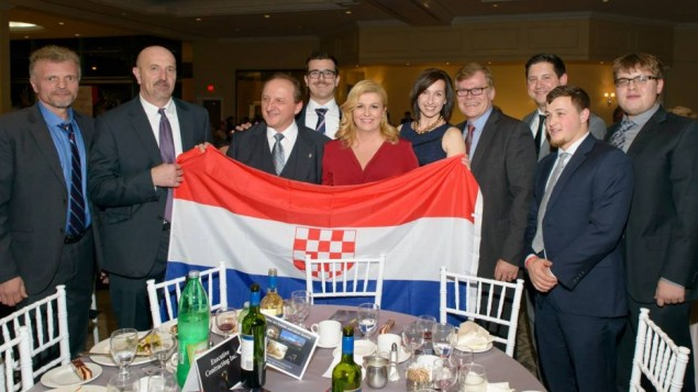 Croatian president poses with pro-Nazi regime symbol
