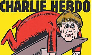 Charlie Hebdo takes aim at Merkel in first German edition