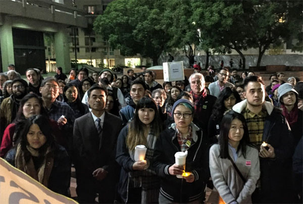 Japanese Americans stand with Muslims after attacks