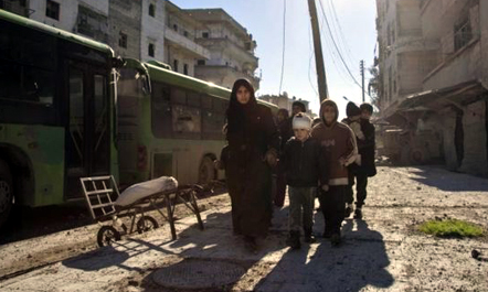 Civilian evacuation from Aleppo suspended after attack