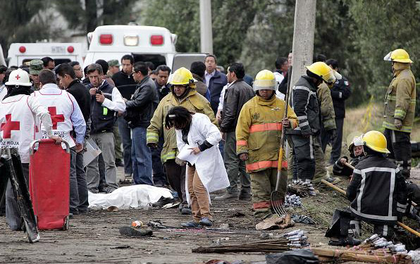 29 killed in Mexico fireworks market explosion