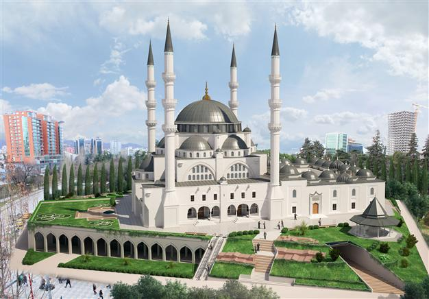 The construction of the Great Mosque in Tirana
