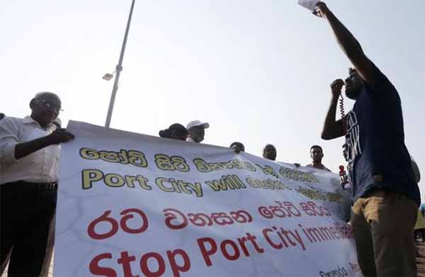 Hundreds protest as Sri Lanka launches Chinese industrial zone