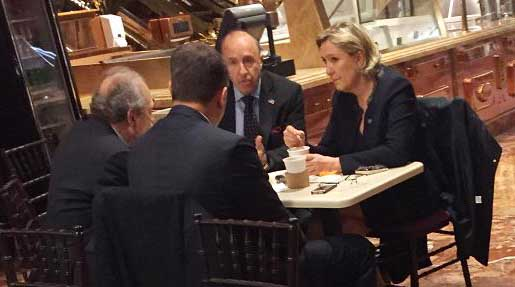 French far-right leader Marine Le Pen seen at Trump Tower