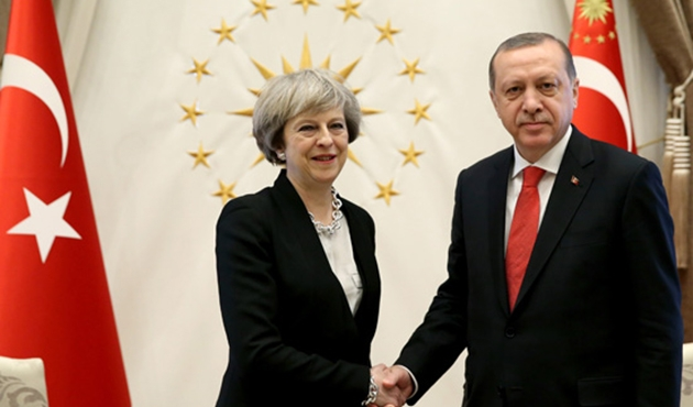 Erdogan, May discuss bilateral ties, regional issues