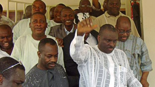 Nigeria politician returns home after 4 years in UK jail