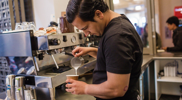 Refugees serve up coffee and life lessons in California