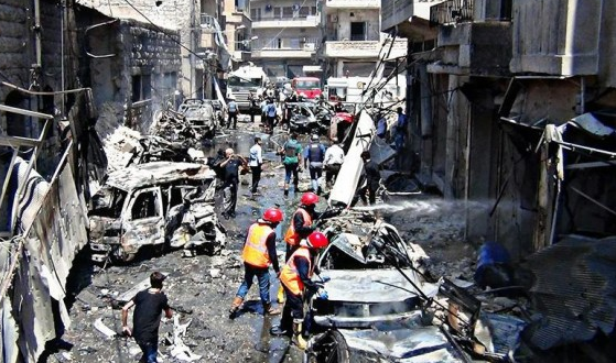 Car bombing kills 2 in Syria's Idlib