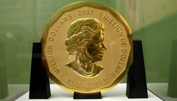 Massive $6M Canadian coin stolen in Germany