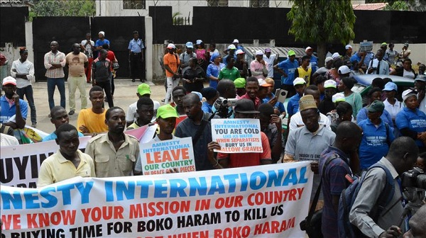 Nigerian activists blast protests against rights group