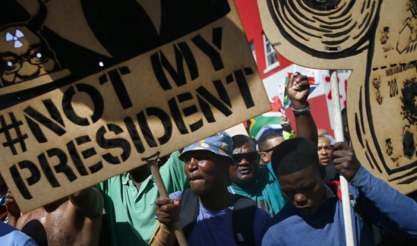 Anti-Zuma protests across South Africa
