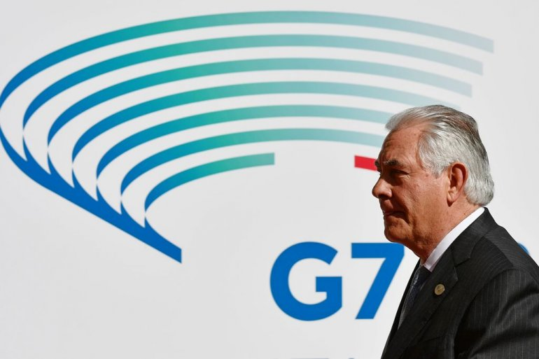 Syria dominates G7 meet before Tillerson heads to Russia