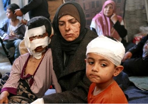 Syrians in frantic search for their children after blast