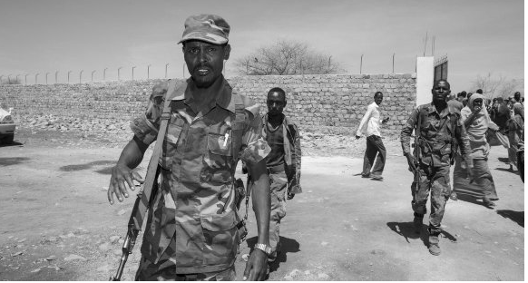 Somali soldiers clash with displaced people, 14 dead