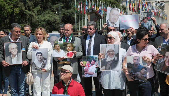 Protest in Geneva targets Syrian detentions