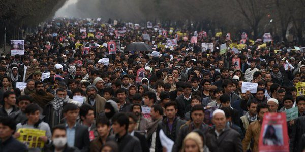 Angry Kabul protest over deadly truck bombing