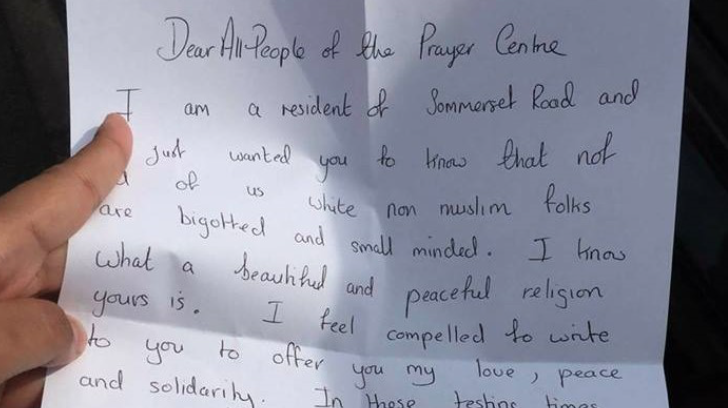 Mosque in UK Receives Letter from a Non-Muslim Woman