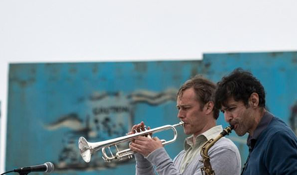 Musicians play tunes in protest at US-Mexico border wall