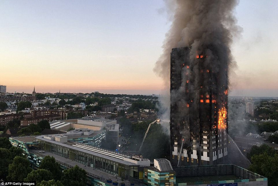London tower block blaze claims at least 6 lives