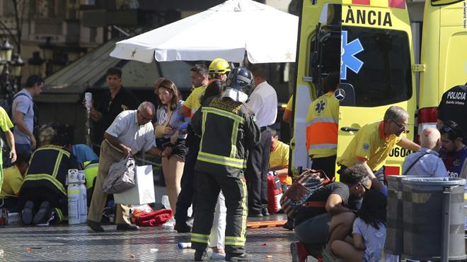 Injured now over a hundred in Barcelona van attack
