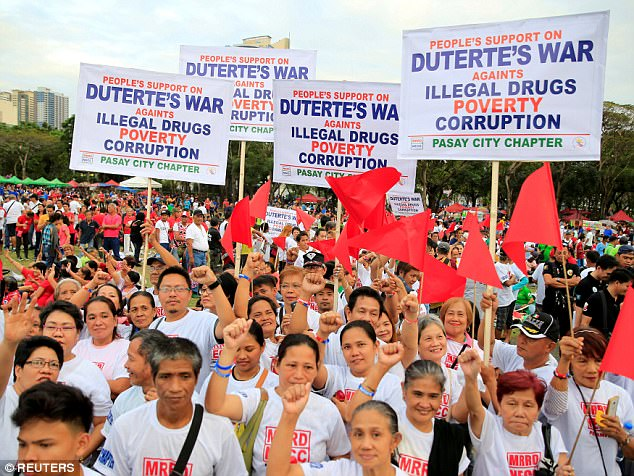 Duterte supporters gather in Central Philippines' City