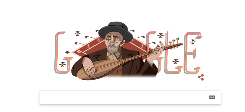 Google doodle marks Turkish minstrel's 123rd birthday