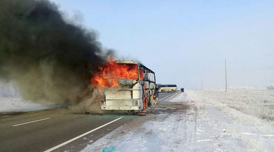 At least 52 killed in bus fire in Kazakhstan