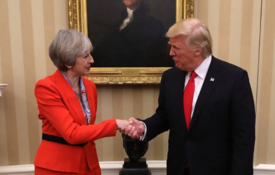 PM May in phone call with President Trump