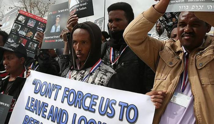 African migrants in Israel protest forcible deportation