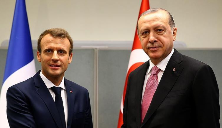 Erdogan, Macron discuss latest developments in Syria