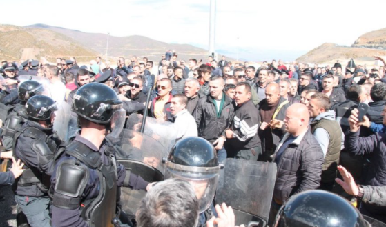 Albania police hurt in motorway toll protest