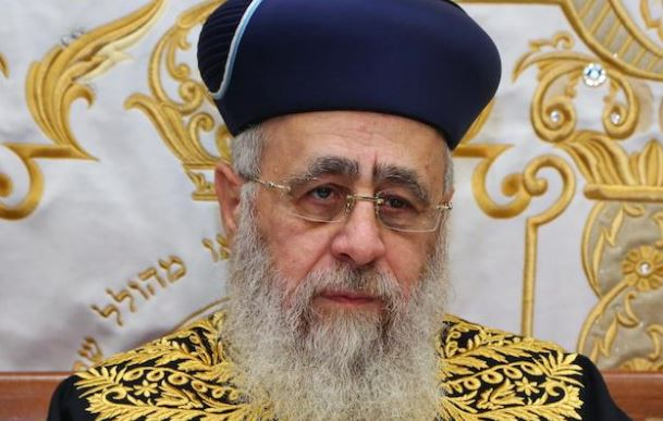Israeli chief rabbi condemns Assad regime for genocide