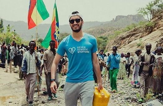 Turkish footballer opens water wells in Ethiopia