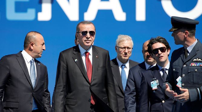 Turkish president attends NATO summit in Brussels
