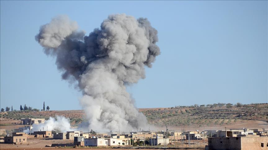 US-led coalition strikes regime positions in Syria