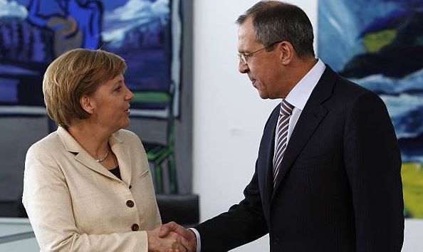 German chancellor meets Russian FM to discuss Syria