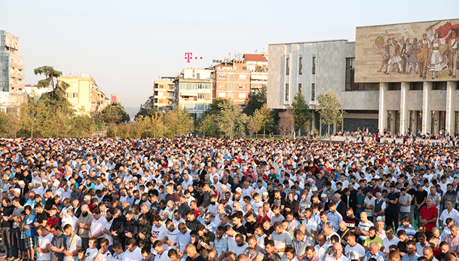 Muslims in Albania celebrate Eid al-Adha
