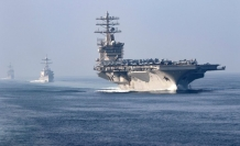 US keeps aircraft carrier in Mideast over Iran threat