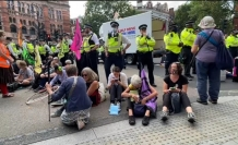 Climate action protesters continue rallying in London