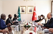 Turkish foreign minister discusses strategic ties with head of African Union Commission