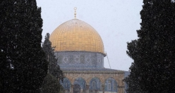 Jerusalem and Al-Aqsa dressed up in snow