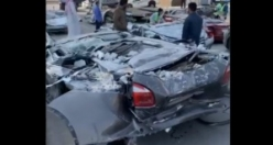 Million dollar accident at the parking lot