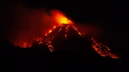 Eruption from at Mount Etna