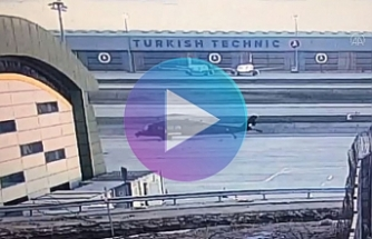 Military helicopter crashed into the pole in Turkey