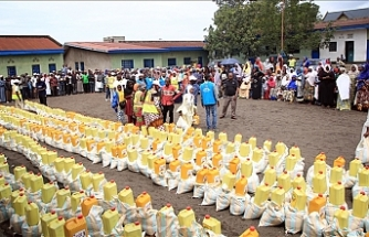 Turkish charity distributes food aid in DR Congo
